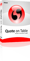 Quote on Table