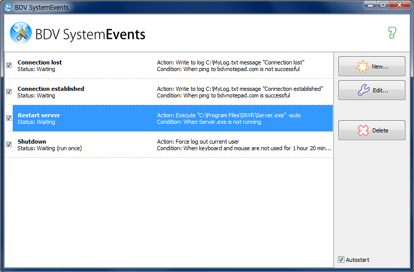 Click to view BDV SystemEvents 1.0 screenshot